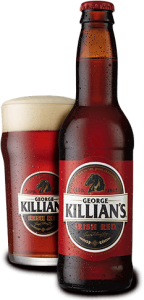 A bottle and glass of Killian's Irish Red